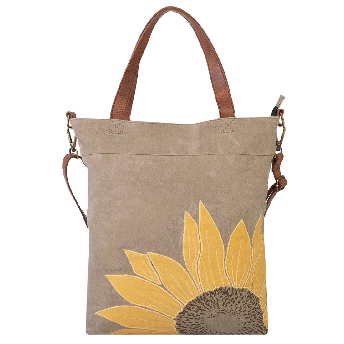 Mona B Sunflower Canvas Tote Bag