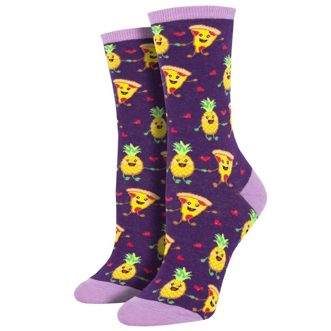 Pizza Loves Pineapple Women's Crew Socks