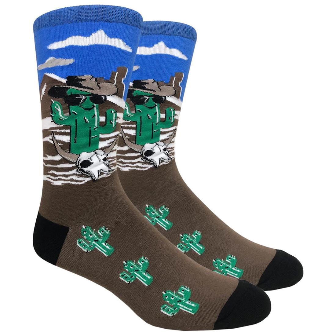 Cool Cactus Men's Crew Socks
