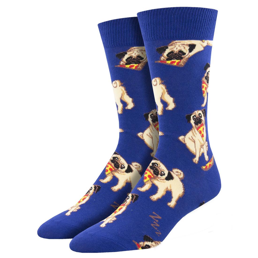 Pug Man's Best Friends Men's Crew Socks