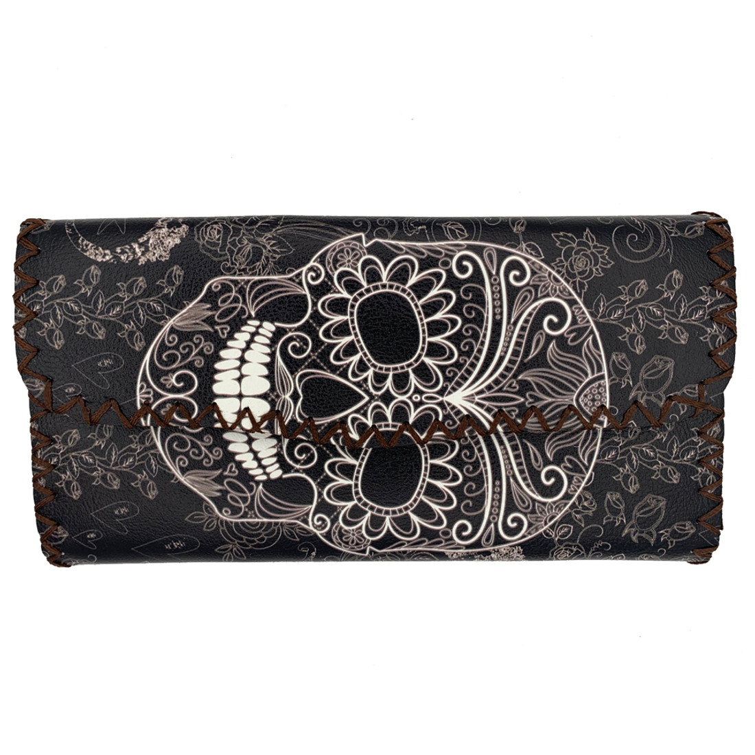 Sugar Skull Leatherette Wallet
