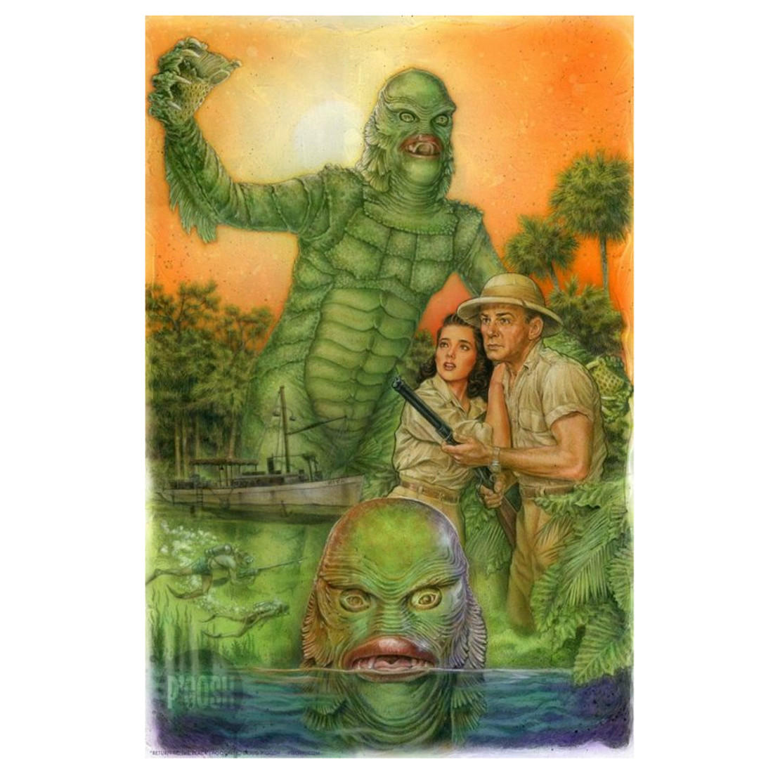 P'gosh Return To The Black Lagoon Art Print