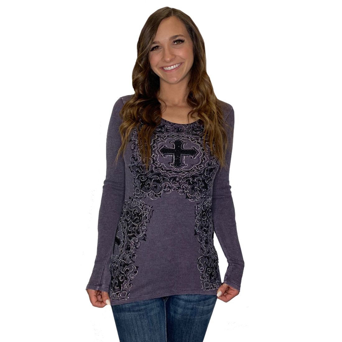 Vocal Apparel Purple Long Sleeve Top