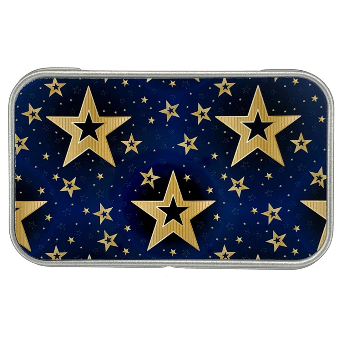 Golden Stars Metal Tin Small Box