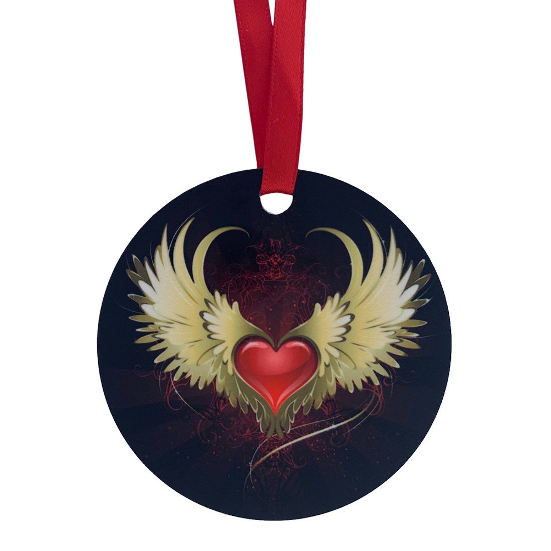 Heart and Wings Decorative Hanging Ornament