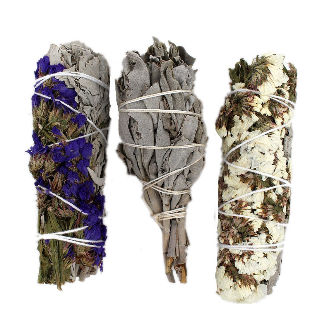 3 Hand Wrapped California Sage Wands