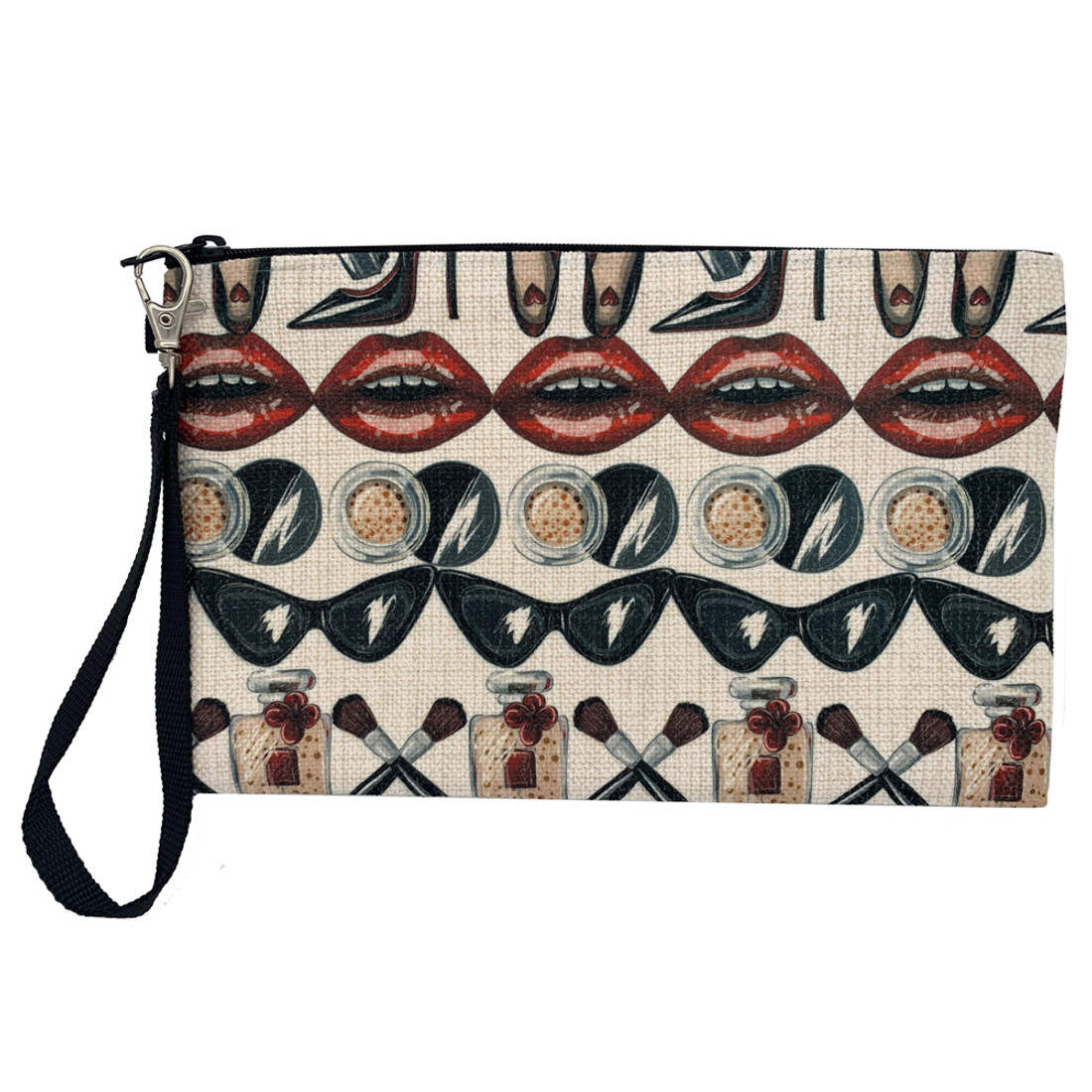 Glam Squad Linen Zippered Pouch
