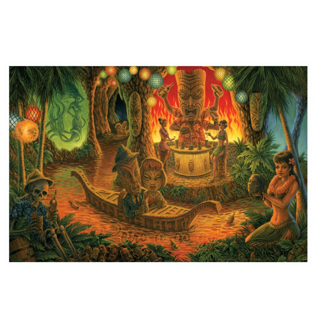 Doug P'gosh Rum Soaked Fever Dream Art Print
