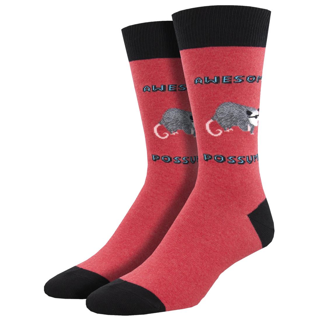 Awesome Possum Men's Crew Socks