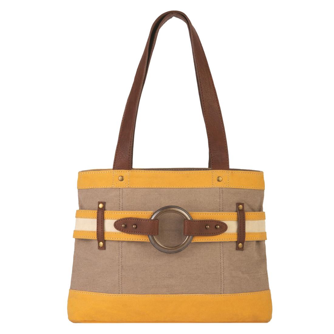 Goldenrod Rowen Canvas Handbag Purse