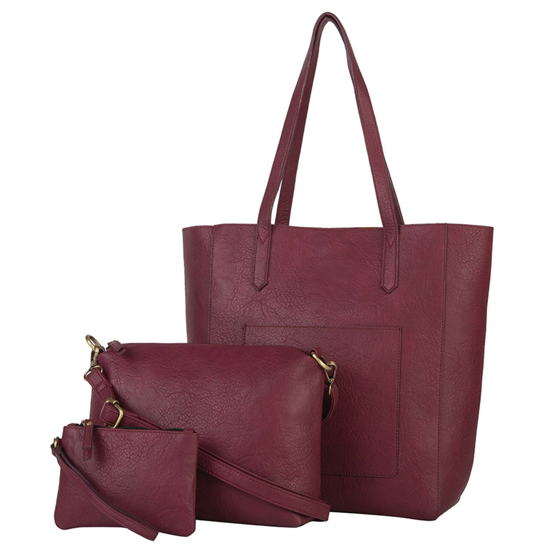 Mona B 3 Piece Tote Bag Set