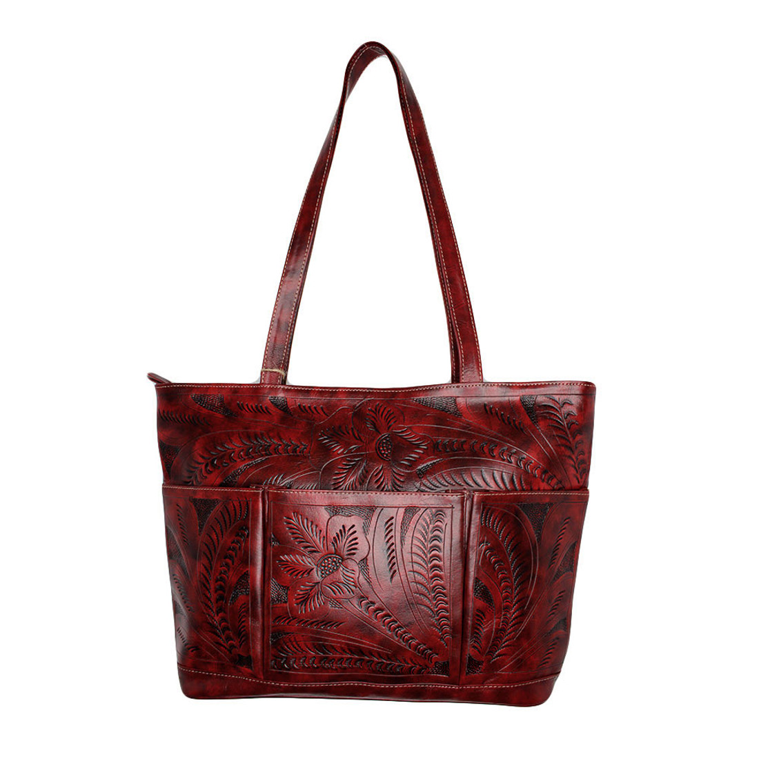 Oxblood red large tote bag from Leaders in Leather.