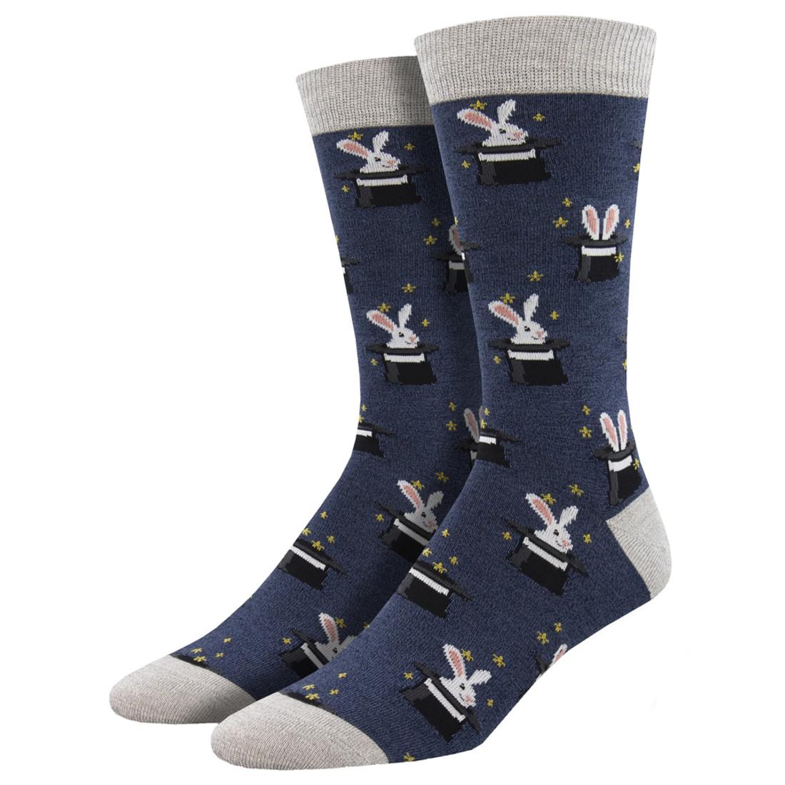 Tricky Rabbit Men's Bamboo Crew Socks