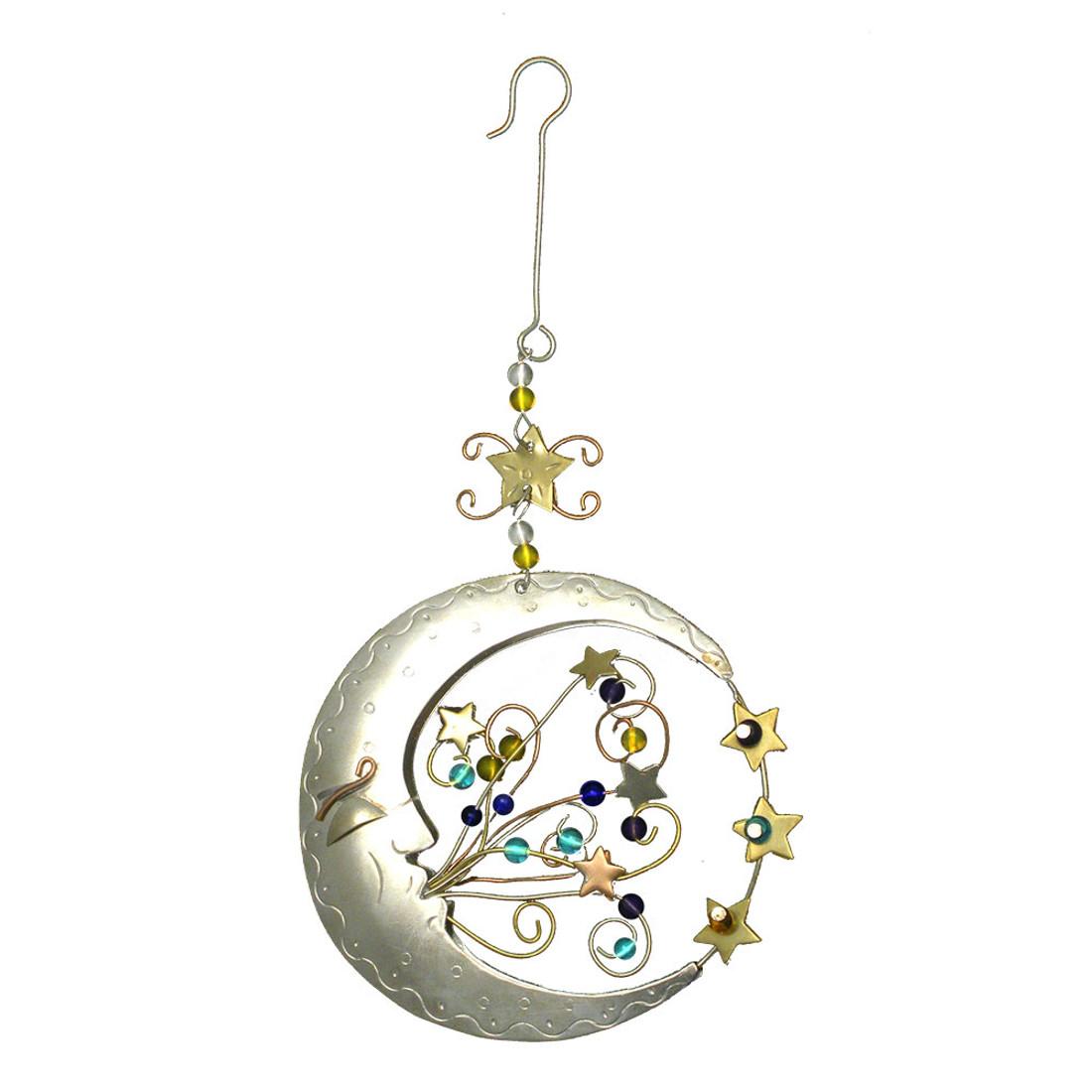 Magic moon metal Christmas ornament.