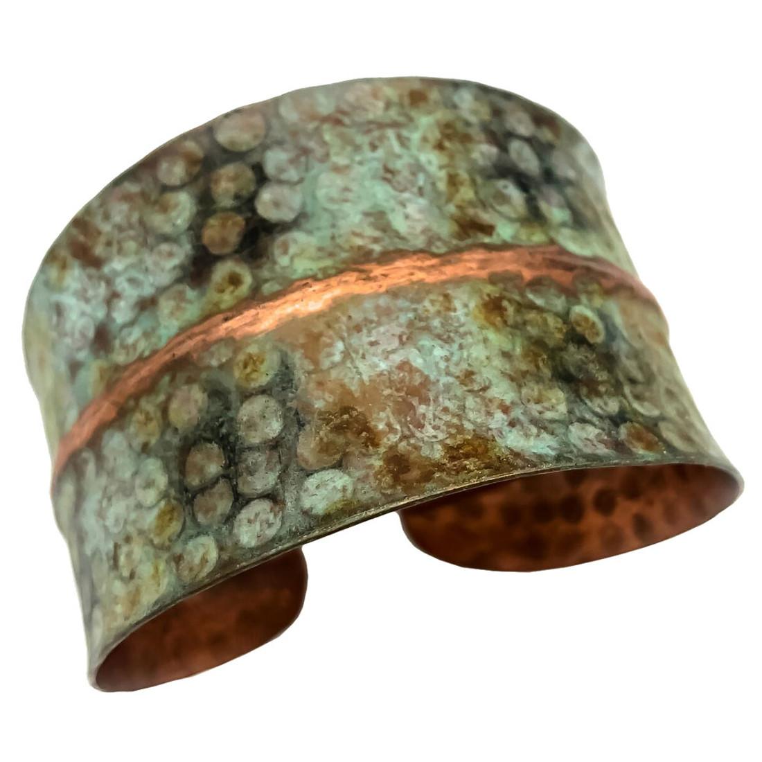 Anju Copper Patina Cuff Bracelet