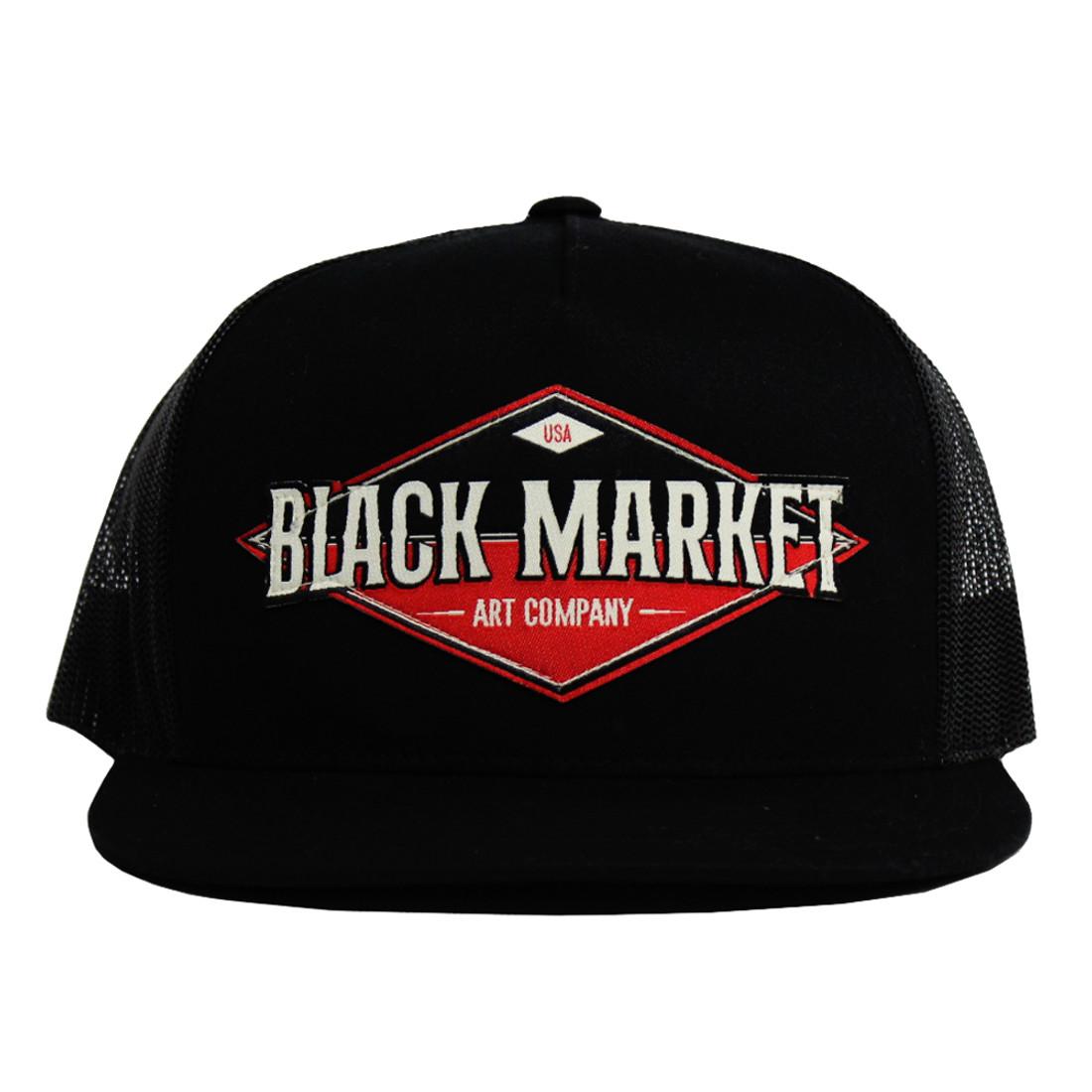 Diamond Black Market Art Snap Back Trucker Hat