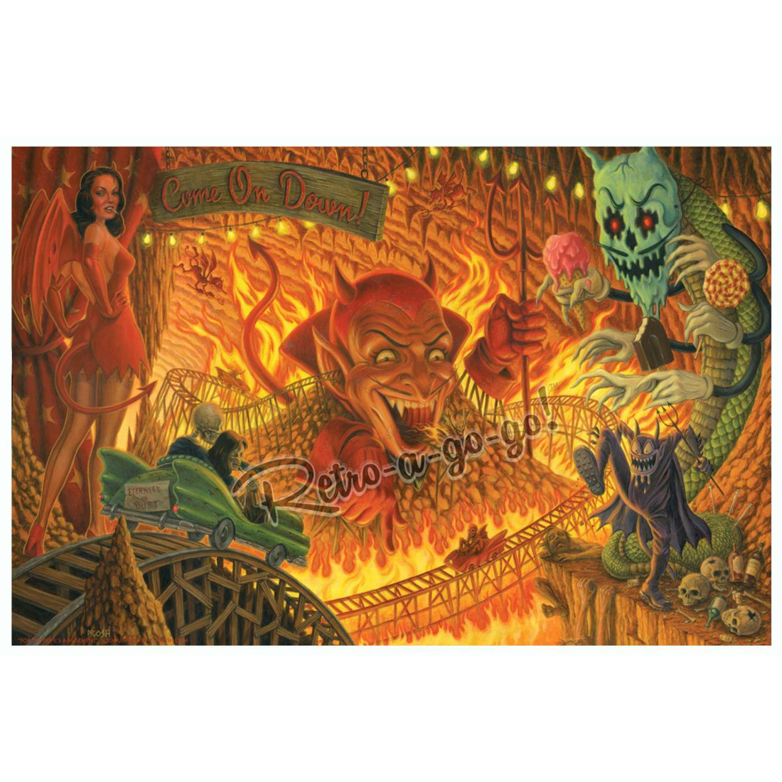For The Devil's Amusement by P'gosh art print