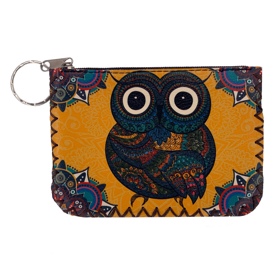 Bohemian Owl Leatherette Coin Purse