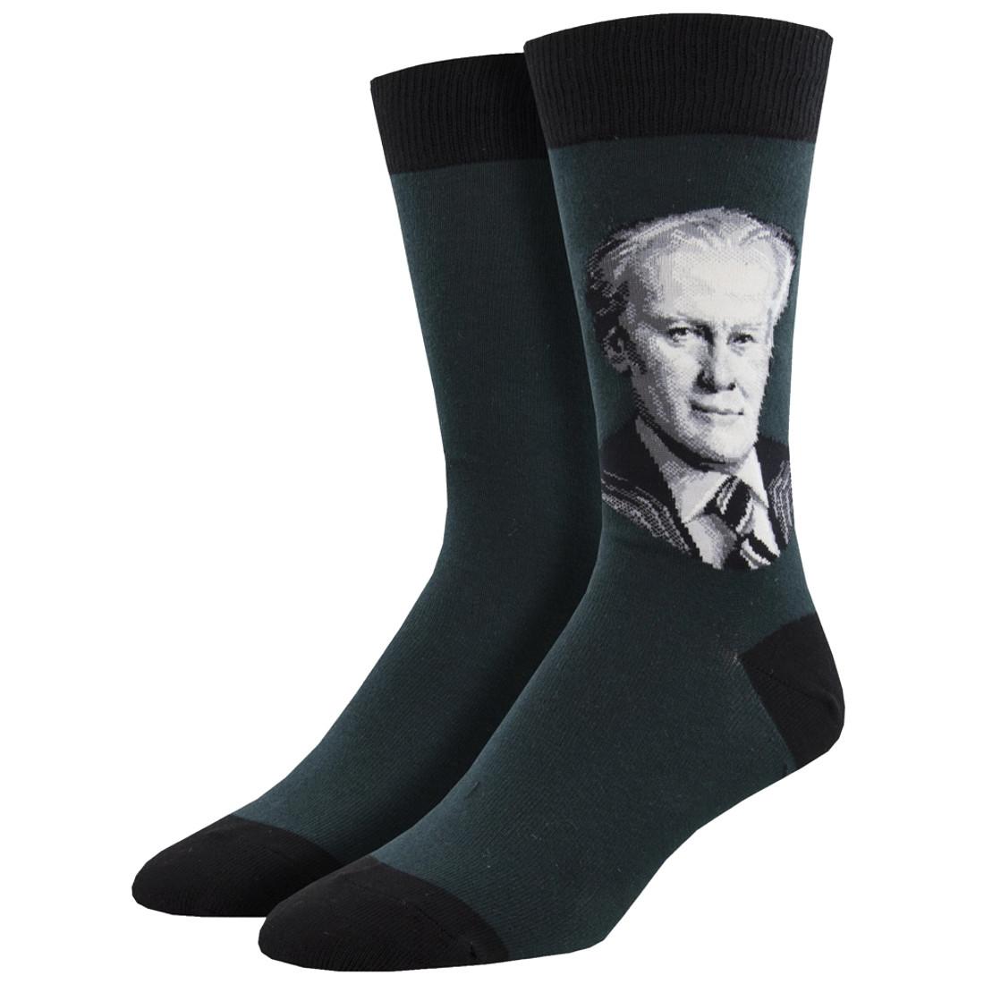 President Gerald Ford Men's Crew Socks