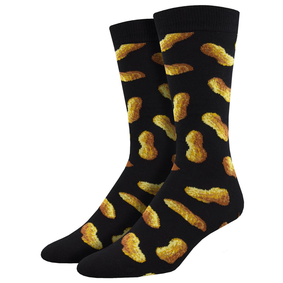 Go Nuts Peanut Men's Crew Socks
