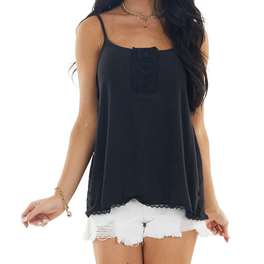 Pol Clothing Black Tank Top