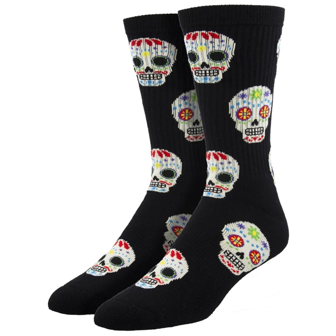 Candy Skulls Men's Athletic Crew Socks