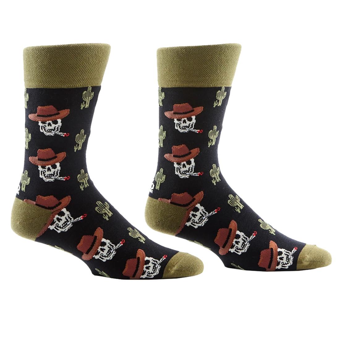 Cowboy Skulls Men's Crew Socks