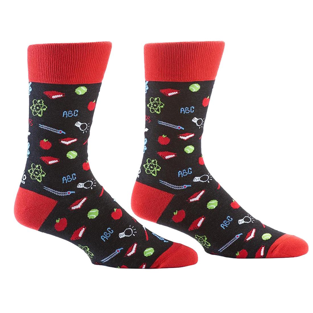 School Teacher Men's Crew Socks