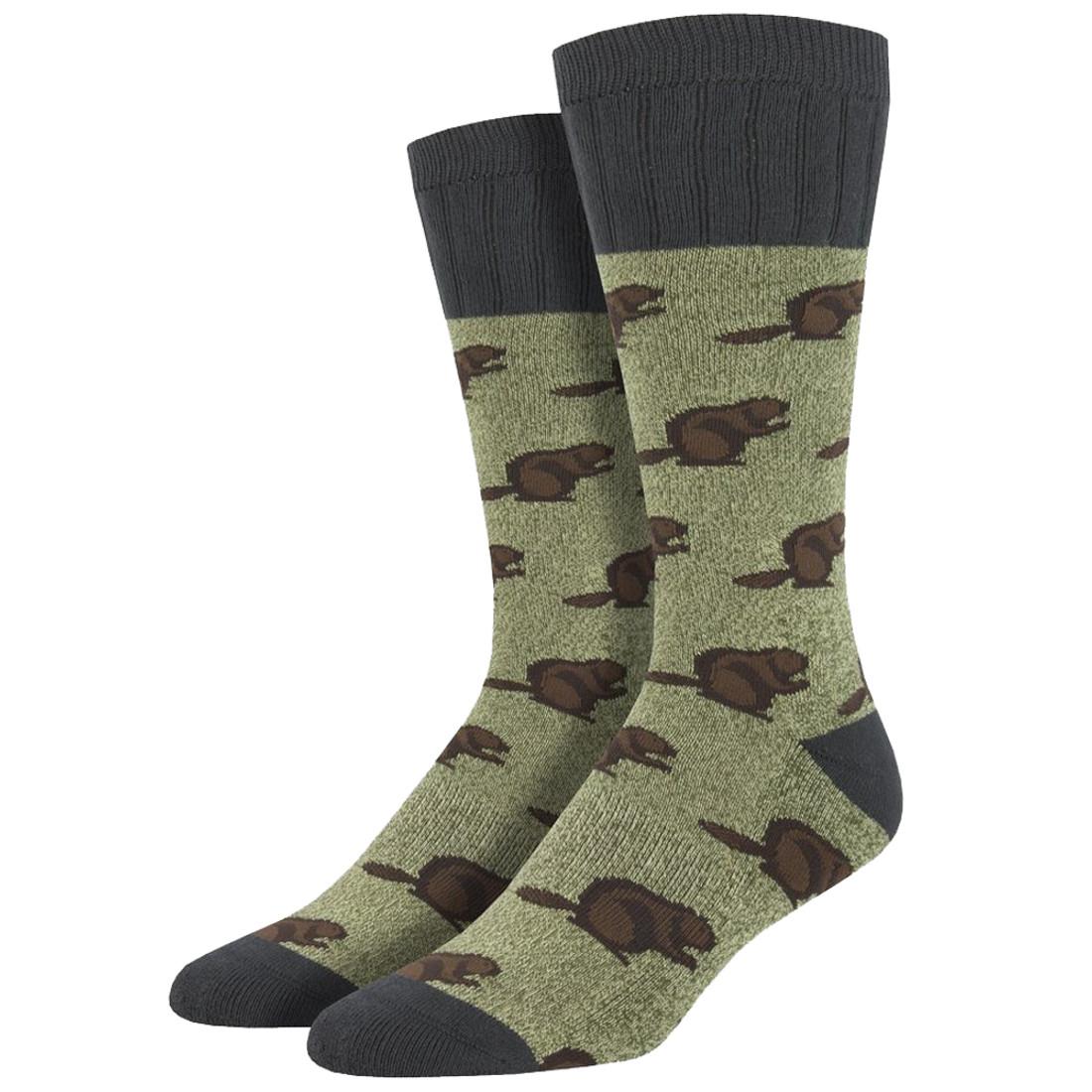 Socksmith Outlands Beaver Men's Crew Socks