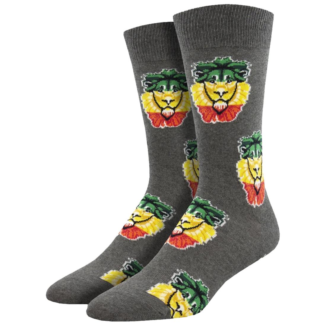 Rasta Lion Men's Crew Socks