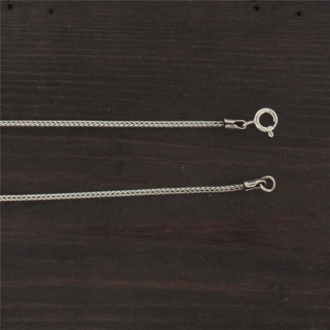 1.5 mm Wheat Chain Sterling Silver Necklace Jewelry Rhodium Plated .925