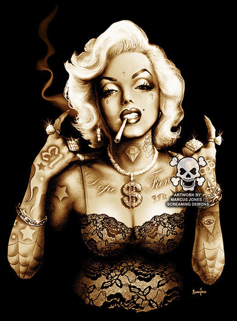 Gangsta Marilyn by Marcus Jones Screaming Demons Canvas ...Gangsta Artwork