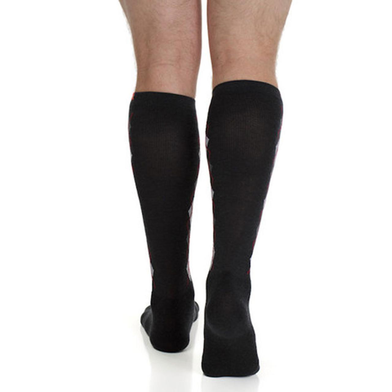 c5704fa1dc09e Men's Wool Knee High Compression Socks Argyle - Purple Leopard Boutique