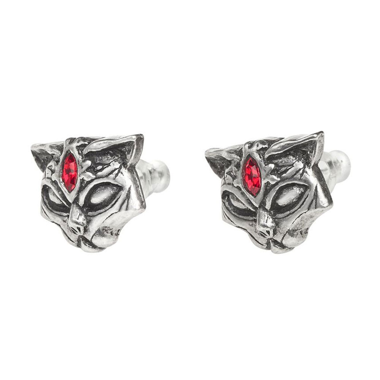 05a1d2213 ... Alchemy Gothic Egyptian Sacred Cat Stud Earrings Pewter Jewelry E406 ...