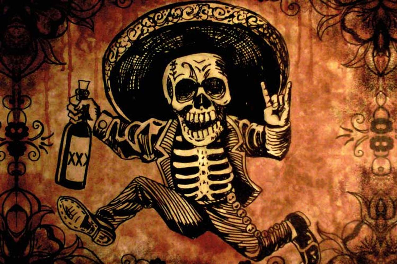 Posada By Shayne Of The Dead Bohner Tattoo Art Print Skeleton