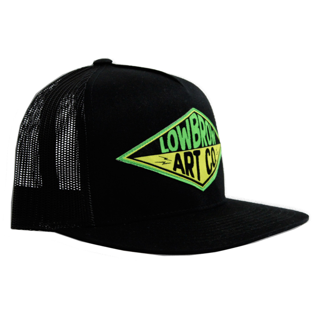Western Lowbrow Art Snap Back Classic Trucker Hat Black