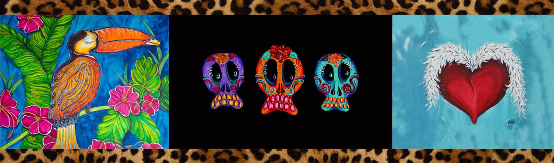 Enjoy our colorful art from Janet Edziak.