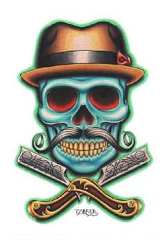 Tyler Bredeweg - Barber Skull - Fine Art Print