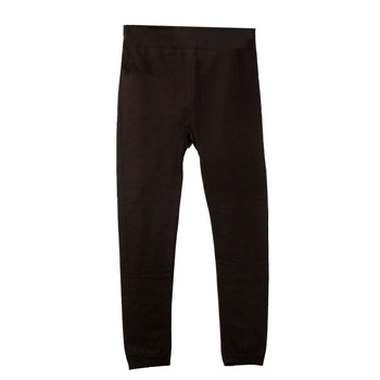 Brown Leggings Polyester Spandex One Size Fits Most Thick Fleece Lining