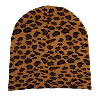 Leopard print beanie.