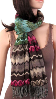 Colorful scarf.