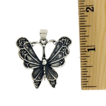 Sterling silver Butterfly pendant.