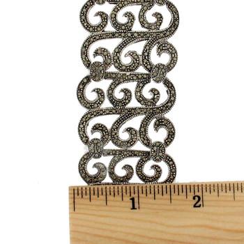 Beautiful Marcasite sterling silver bracelet.