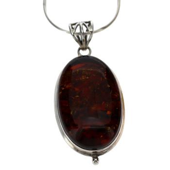 Redish brown Amber pendant.