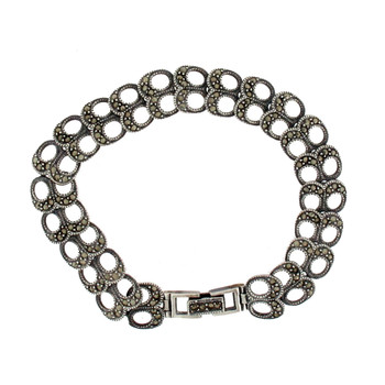 Marcasite sterling silver bracelet.