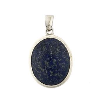Sterling silver blue Lapis pendant.