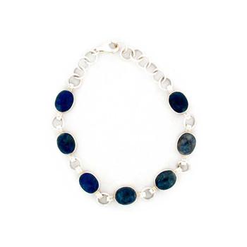 Blue Lapis sterling silver bracelet.
