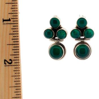 Green Onyx earrings.