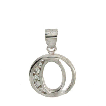 """O"" sterling silver pendant."