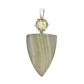 Citrine and Honey Onyx pendant.